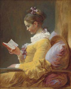 Jean-Honoré Fragonard, c. 1770, Young Girl Reading