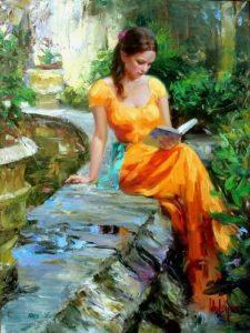 Vladimir Volegov reading Painting